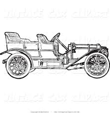 wrecked car clipart royalty free black and white stock vintage car designs