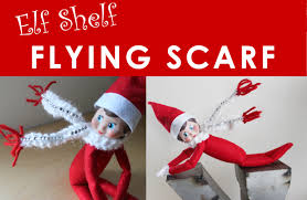 elf on the shelf knitted flying scarf free knitting pattern