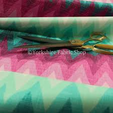 freedom printed velvet fabric collection chevron striped pink blue