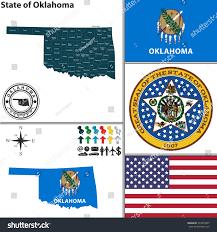 Flag Of Oklahoma Vector Set Oklahoma State Seal Flag Stock Vector 224973607