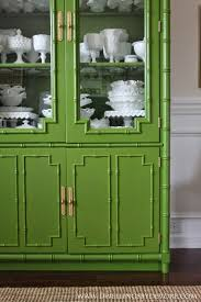 awesome before and after bamboo hutch makeover paint color is