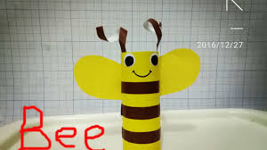 crafts bee with paper roll diy for kid youtube