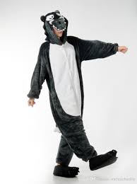 wolf halloween costume for men big bad wolf one piece pajama onesies for cute animal
