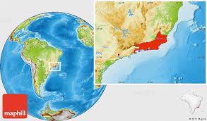 de janeiro on the world map physical location map of de janeiro