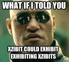 what if i told you xzibit could exhibit exhibiting xzibits