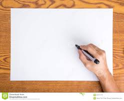 blank paper to write on write on white paper stock photo image 64411173