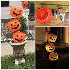 pumpkin decoration tipsy plastic pumpkin decoration crafty morning