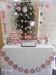 Bridal Shower Dessert Table Pink Gold Floral Bridal Shower Dessert Table Carnation Backdrop