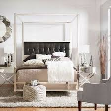 Black Canopy Bed Adora Black Glam Chrome Canopy Bed Homehills Canopy Canopy Beds