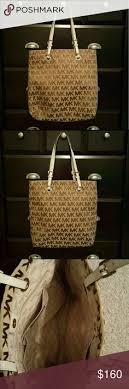 light brown mk purse michael kors handbag mk logo all in lining large bags michael