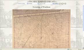 Norfolk County Wall Map Framed Genea Musings 11 22 09