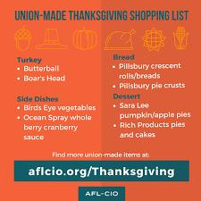 union made in america thanksgiving afl cio