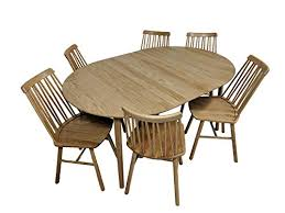 oiled oak dining table scandinavian zig zig dining set with 6 chairs dining table in