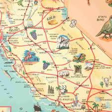 cavallini wrap vintage california map gift wrap sheet by cavallini co
