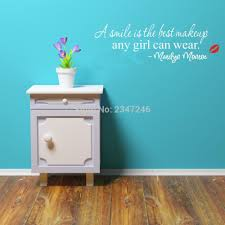 online get cheap marilyn monroe wall stickers aliexpress com marilyn monroe inspirational quote wall stickers home decal wall art for girl room decoration for home