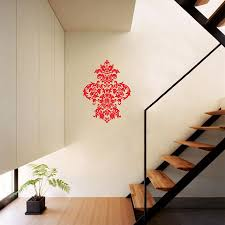 damask vinyl wall decal art baroque sticker home decor graphic