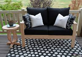 Free Diy Outdoor Furniture Plans by Diy Outdoor Seating Her Tool Belt