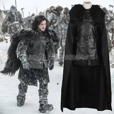 Mens Size Halloween Costumes Game Thrones Cosplay Costume Men Jon Snow Cloak Costume