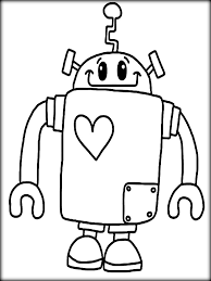 robot coloring pages free printable coloringstar