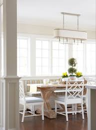 Banquette Dining Room Furniture U Shaped Dining Banquette With White X Based Dining Table