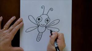 how to draw a cartoon dragonfly baby easy drawing lesson for