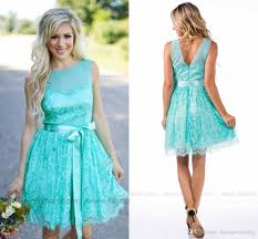 2016 country style bridesmaid dresses with sash short cheap