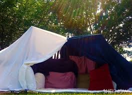 How To Build A Tent How To Build A Backyard Pillow Fort