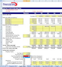 Excel Template For Financial Analysis Residential Estate Excel Model Financial Edu Model Advisor