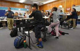 Standing Desks For Students Antioch Becomes First In Region To Adopt Standing Desks