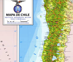 chile physical map de chile