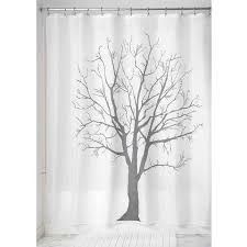 Charcoal Shower Curtain Tree Shower Curtain Charcoal Delphinium Home