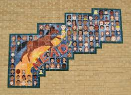 wichita murals south east mead school 2601 e skinner on southeast wall ceramic tiles students