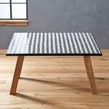 Tile Top Dining Table Farmhouse Rectangular Leg Dining Table With - Tile top kitchen table and chairs