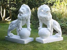 marble lions for sale large garden statues lions marble sculptures co