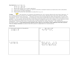Matrix Worksheets Solving A System Of Equations With Matrices Jennarocca