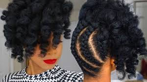 pineapple updo on natural hair youtube