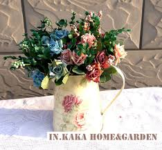 Fake Flowers For Home Decor Bouquet Vase Promotion Shop For Promotional Bouquet Vase On