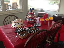 Mickey Mouse Table by Mickey Mouse Birthday Party Laderamom