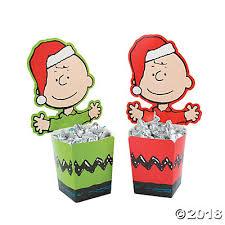 peanuts christmas christmas candy buckets