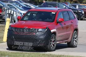 jeep hellcat truck images surface of jeep testing grand cherokee hellcat trackhawk