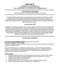 Electrical Engineer Sample Resume by Electronics Engineer Sample Resume Haadyaooverbayresort Com