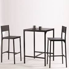 Modern Bistro Chairs Radius Modern Bistro Table Set In Black With 2 Chairs 28631 Modern