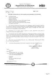 Certification Letter Of Endorsement Sample Revised Guidelines On The Establishment Merging Conversion And Nami U2026