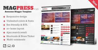 templates blogger themes magpress magazine responsive blogger template by themelet