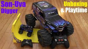 monster truck jam videos shark wreck a grave digger jams remote control grave toy monster
