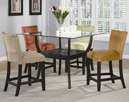 bar height glass table bloomfield 5 piece counter height dining set by coaster kitchen