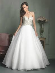 sweetheart ball gown beaded organza wedding dresses on sale