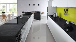 kitchen ideas ealing colour scheme of white gloss black quartz and accent green