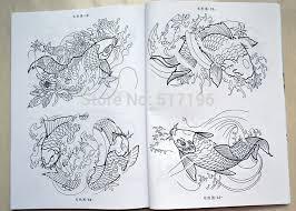2014 new chinese tattoo book 100 koi fish tattoo designs