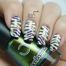 jewel u0026 white zebra print nail art feat dance legend chameleon